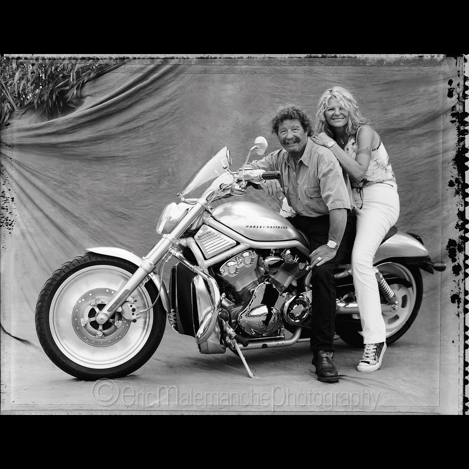Couple sur Harley